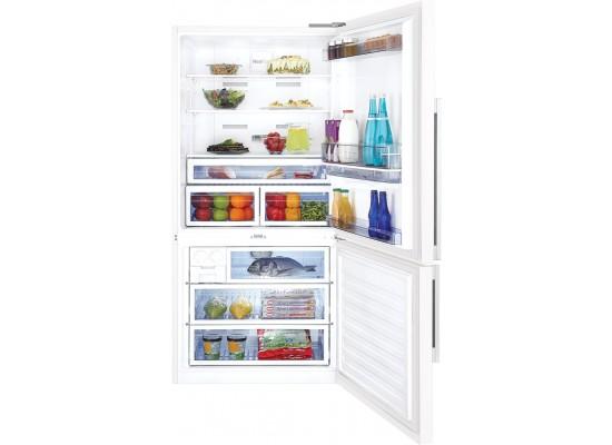 Beko 22 Cft. Bottom Freezer Refrigerator (CNE63721/CN16322) - White