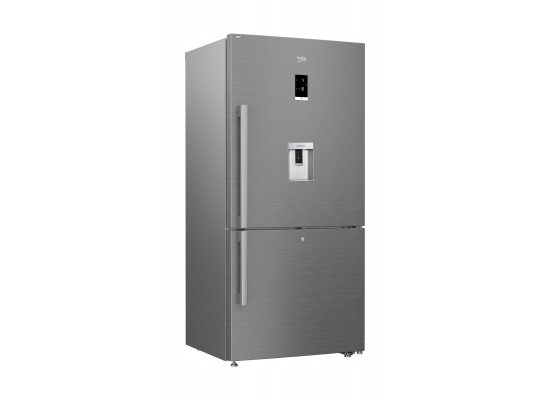 Beko 22 Cft.630L Bottom Freezer Refrigerator (CN163223DX) -  Pearl Steel