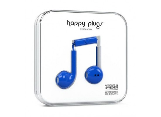 Happy Plugs Earbud Plus (HP-7813) - Cobalt
