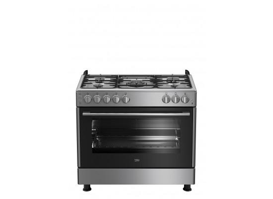 Beko 90X60 5 Burner Gas Cooker (GG 15125 FX) - Grey