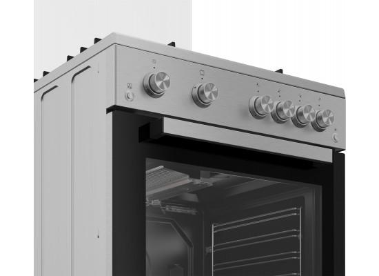 Beko 60X60 Full Gas Cooking Range (FSGT61121DXL) - Inox