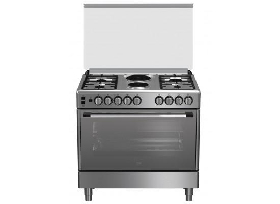 Beko 90X60cm Cooking range 2 Hotplate 4 Gas Burners (GG 12120 FX) - Stainless Steel