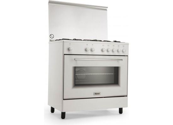 Wansa 80x50 5-Burner Floor Standing Gas Cooker (WE8050W)