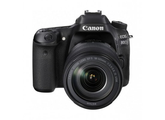 Canon EOS 80D 24.2MP WiFi DSLR Camera with 18-135mm Lens - Black