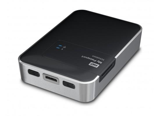 Western Digital My Passport 2TB Wi-Fi Mobile Storage Hard Disk - Black - WDBDAF0020BBK