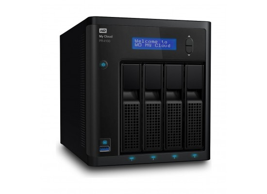Western Digital My Cloud PR4100 24TB 4-Bay NAS And Cloud Storage (WDBNFA0240NBK)
