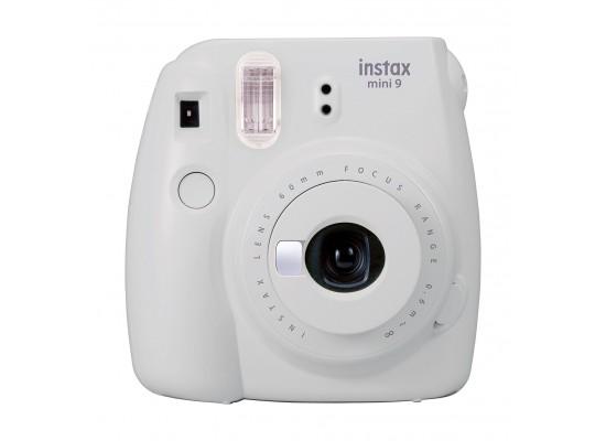 Fujifilm Instax Mini 9 Camera - Smokey White Front View