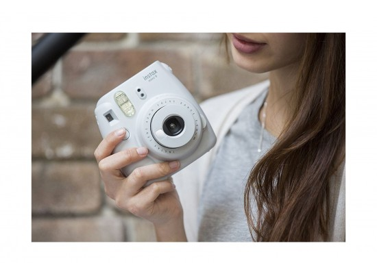 Fujifilm Instax Mini 9 Camera - Smokey White Travel View