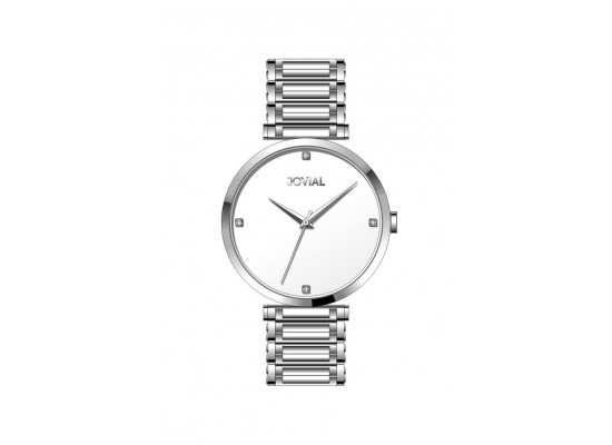 Jovial Casual Analog Quartz Gents Metal Watch (9161-GSMQ-01) - Silver