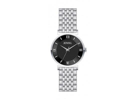 Jovial Casual Analog Quartz Ladies Metal Watch (9163-LSMQ-03) - Silver