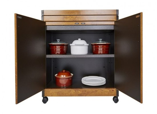 Wansa Food Warmer Trolley(TY-7001) - Teak