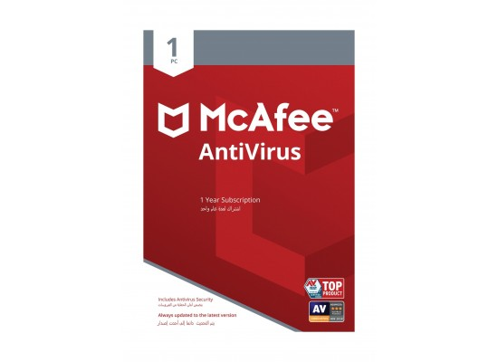 McAfee Antivirus 2019 1-PC