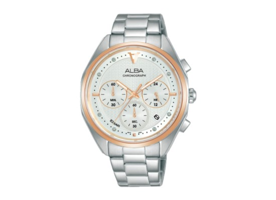 Alba 38mm Women's Chrono Watch (AT3G90X1) in Kuwait | Buy Online – Xcite