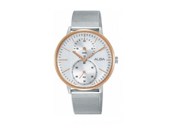 Alba 38mm Quartz Analog Gents Metal Watch (A3A004X1) - Silver