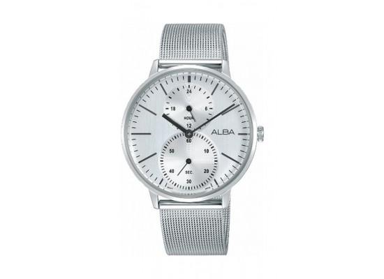 Alba 38mm Quartz Analog Gents Metal Watch (A3A007X1) - Silver