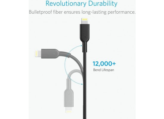 Anker PowerLine II Lightning Cable 1.8-Meter (A8453H11) - Black
