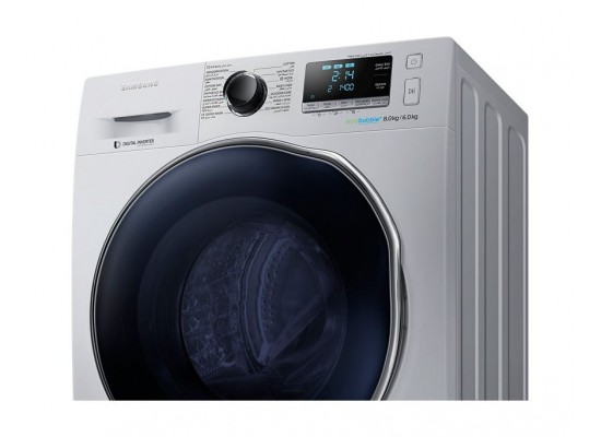 Samsung 8kg/6kg 1400RPM Front Loading Washer/Dryer (WD80J6410AS) - Silver