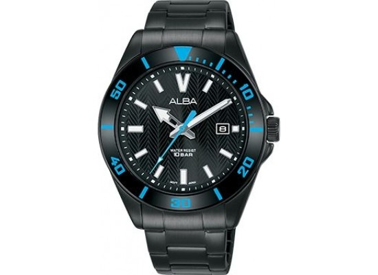 Alba 41.5mm Analog Gents Metal Watch (AG8J29X1) - Black