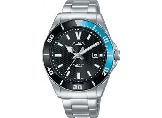 Alba 41.5mm Analog Gents Metal Watch  AG8J37X1) - Silver
