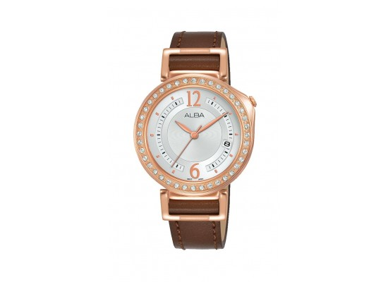 Alba 34mm Analog Ladies Leather Fashion Watch (AG8K16X1)
