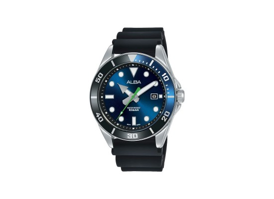 Alba 41mm Analog Gents Casual Silicon Watch (AG8K17X1) - Black