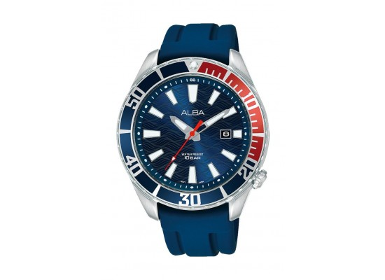 Alba 43mm Gents Analog Fashion silicon Watch Sport - (AG8K37X1)