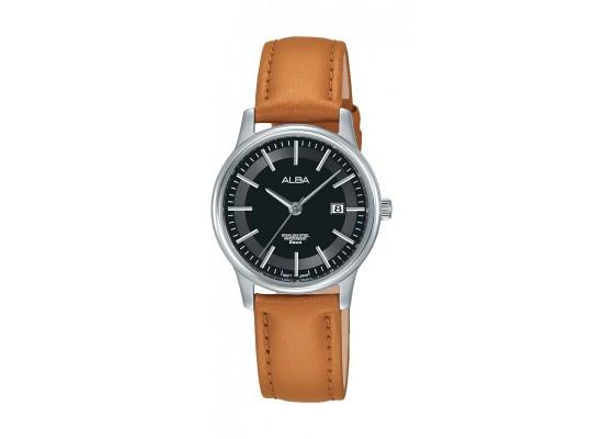 Alba AH7N09X1 Ladies Casual Analog Watch Leather Strap