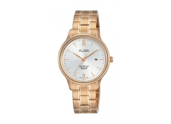 Alba Ladies Casual Analog 30 mm Metal Watch (AH7N80X1) - Rose-Gold