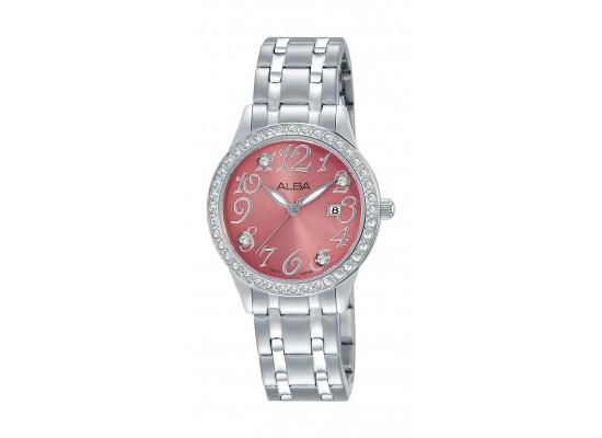 Alba Ladies Fashion Analog 29mm Metal Watch (AH7P29X1) - Silver