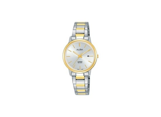 Alba 28mm Analog Gents Metal Watch (AH7R52X1) - Silver/Gold