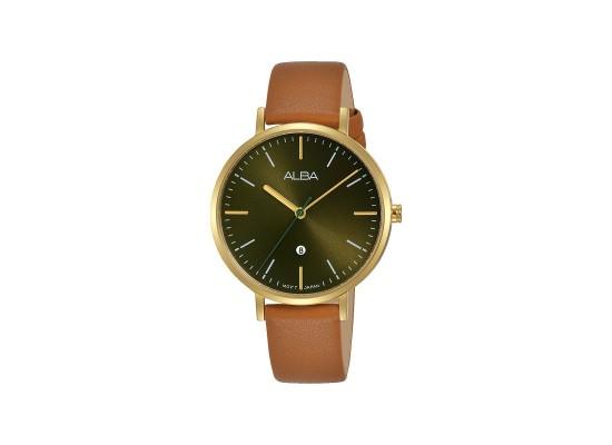 Alba 34mm Analog Ladies Fashion Leather Watch (AH7T28X1) - Brown