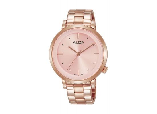 Alba Ladies Fashion Analog 37 mm Metal Watch (AH8382X1) - Rose-Gold