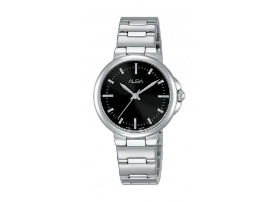Alba Ladies Fashion Analog 30mm Metal Watch (AH8425X1) - Silver