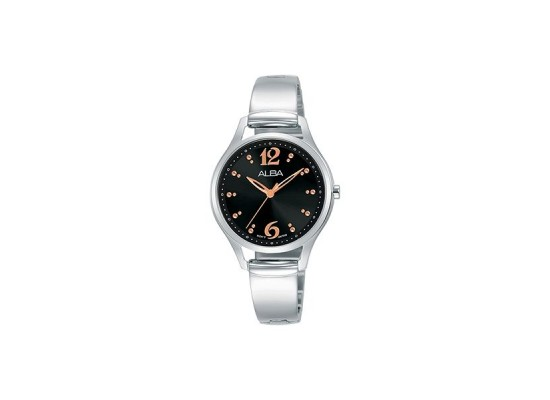 Alba 30mm Analog Ladies Metal Watch (AH8513X1) - Silver