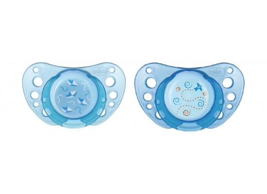 Chicco 2Pcs Physio Air Soother Case – Blue (119N)