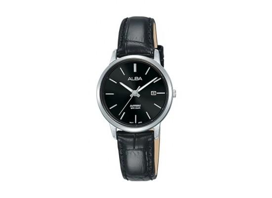 Alba 28mm Analog Ladies Leather Watch (AH7R59X1) - Black