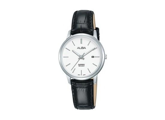 Alba 28mm Analog Ladies Leather Watch (AH7R61X1) - Black