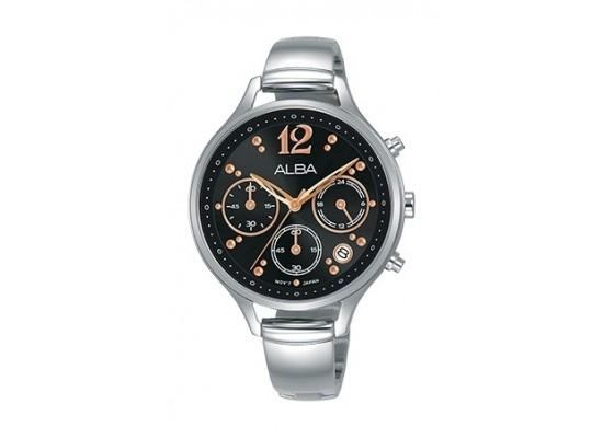 Alba 36mm Chronograph Ladies Leather Fashion Watch - AT3E99X1