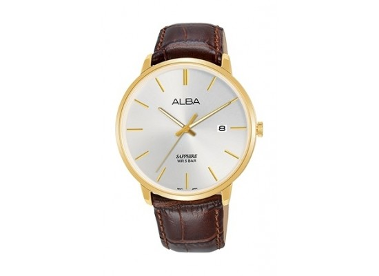 Alba 40mm Analog Gent's Leather Watch (AS9G68X1) - Brown