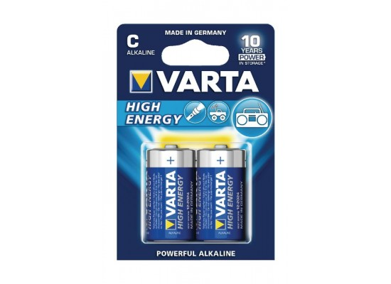 Varta High Energy Alkaline C Batteries 2Pcs