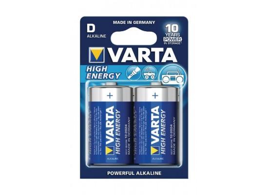 Varta High-Energy D Alkaline Batteries 2 Pcs