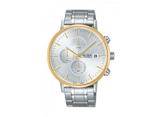 Alba AM3354X1 Gents Casual Chronograph Metal Watch - Silver