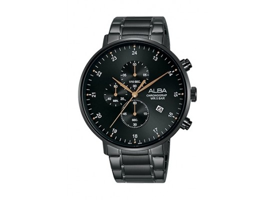 Alba 44mm Quartz Chronograph Gent's Metal Watch - AM3605X1