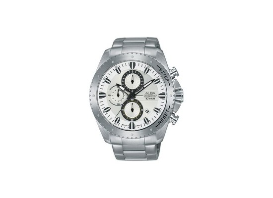 Alba 45mm Chronograph Gents Metal Watch (AM3641X1) - Silver