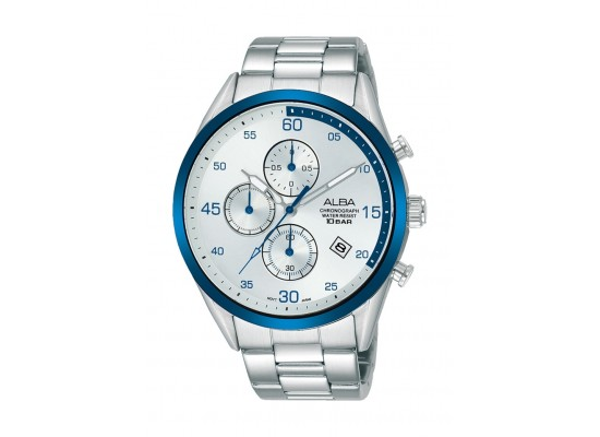 Alba 44mm Gent's Chronograph Casual Metal Watch - (AM3705X1)