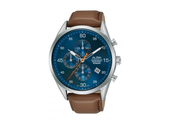 Alba 44mm Gent's Chronograph Leather Casual Watch - (AM3711X1)