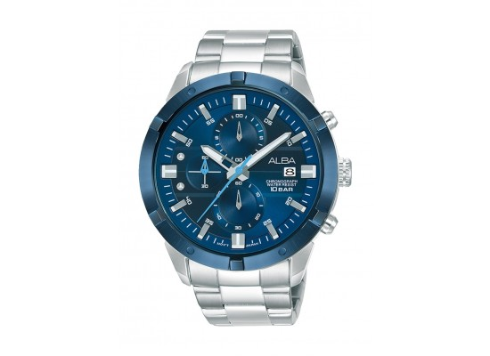 Alba 44mm Gent's Chronograph Sports Metal Watch - (AM3715X1)