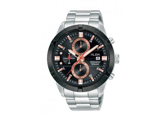 Alba 44mm Gent's Chronograph Sports Metal Watch - (AM3717X1)