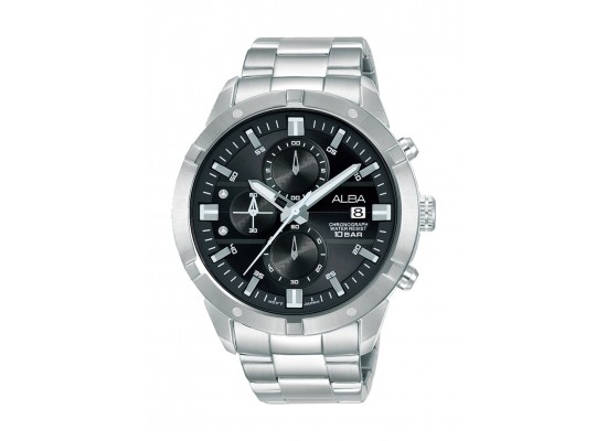 Alba 44mm Gent's Chronograph Sports Metal Watch - (AM3721X1)