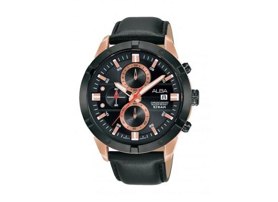 Alba 42mm Gent's Analog Leather Sports Watch - (AM3722X1)